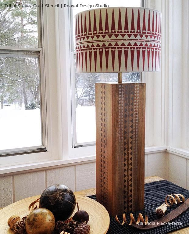 Tribal Raven Lily Furniture Stencil Make A Lamp Stencil Diy Diy