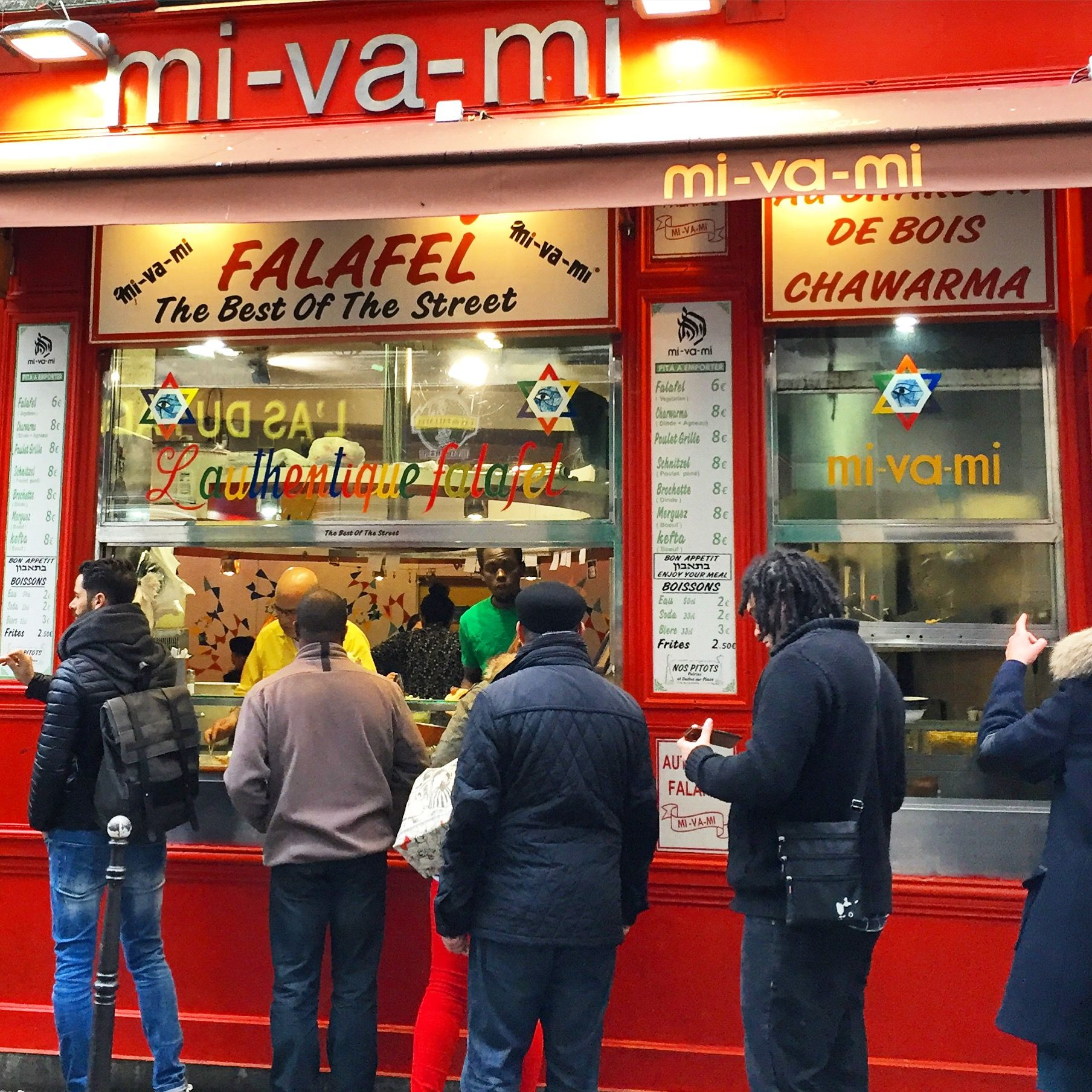 Best Jewish Falafel Kebab in Paris ! This is a personal pic :-) I took it! STM