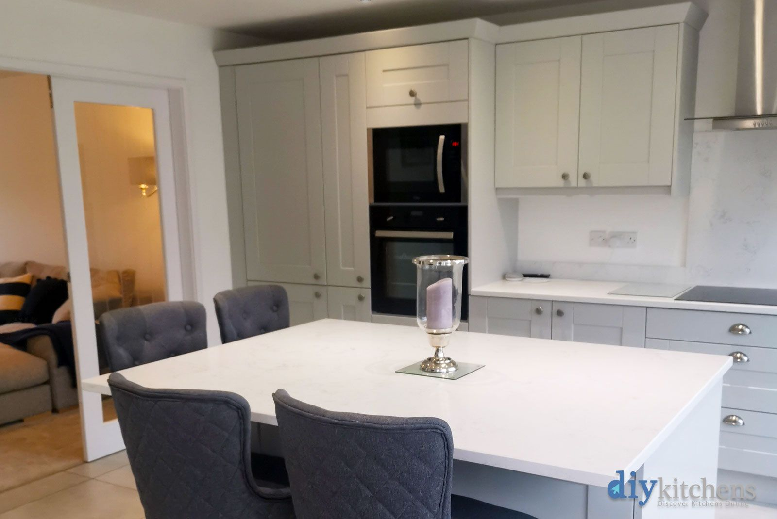 Best An Innova Linwood Dove Grey Kitchen With Images 640 x 480