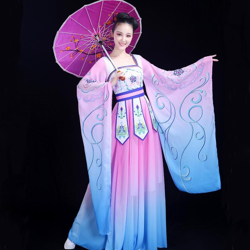 a6162155175 Dance Outfits · Chinese folk dance fairy costume women s classical hanfu  traditional oriental clothing ancient royal elegant Stage Dance