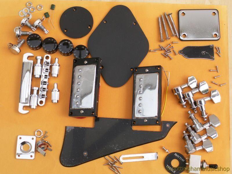 Chromeblack electric guitar hardware kit les paul black