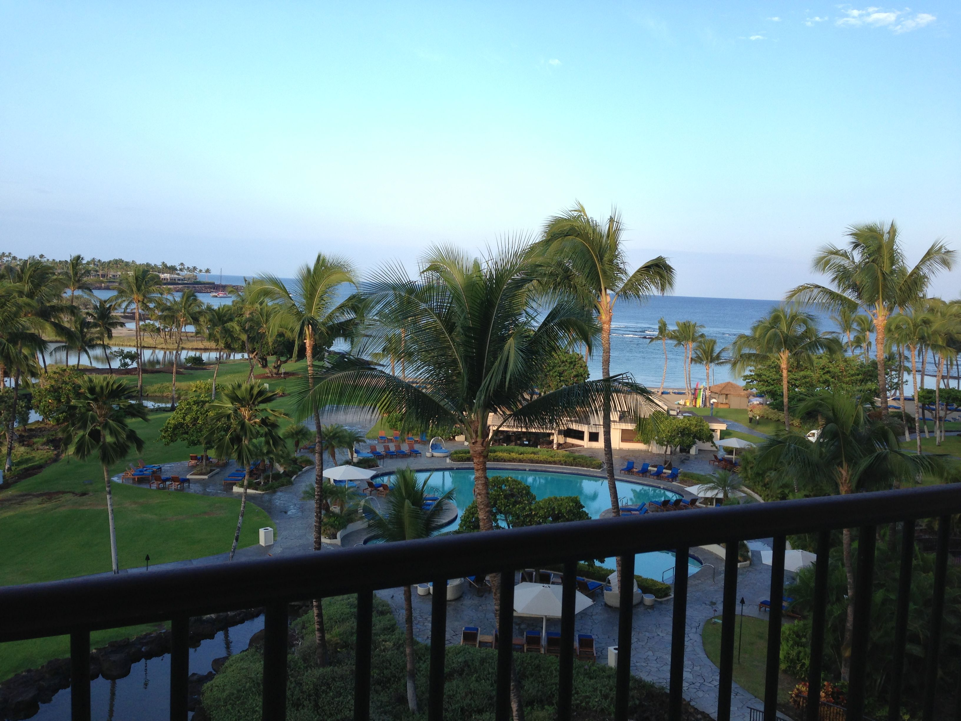 My view from my room at the lovely Mauna Lani Bay Hotel - www.journeystohawaii.com
