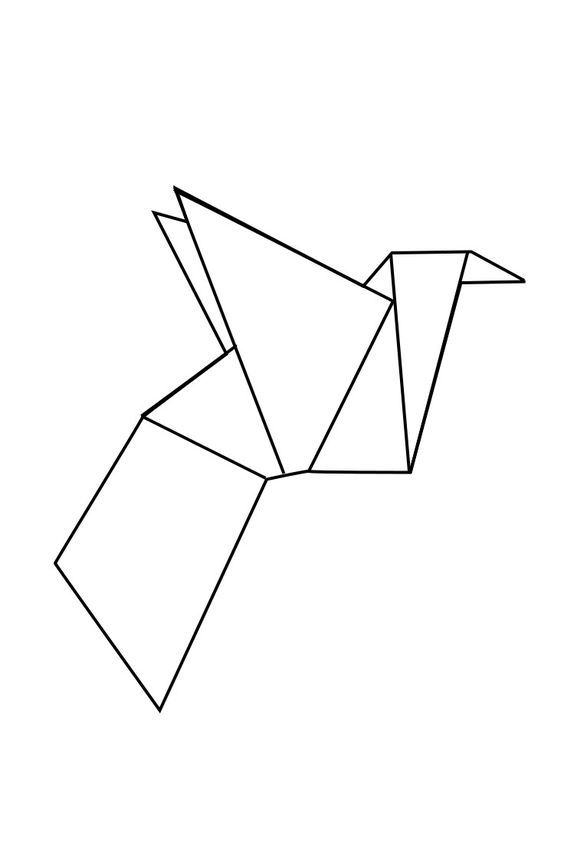 geometric geometrique male bird oiseau male: