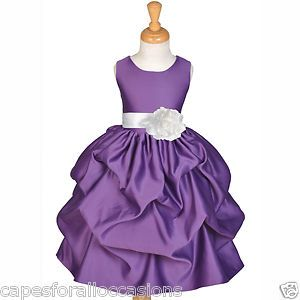 634af38cb Dark Purple Flower Girl Dresses | Plum Purple White Bridesmaid Formal Flower  Girl Dress 6M 12M