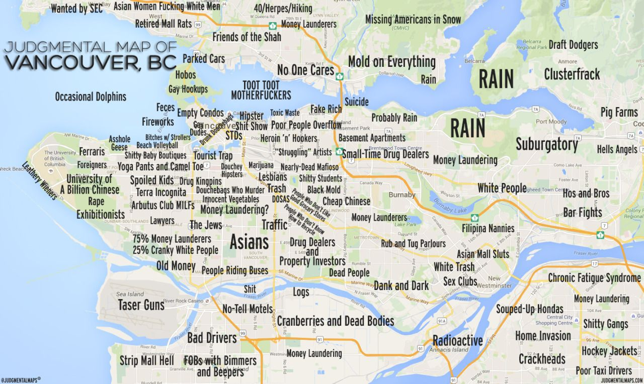 JUDGMENTAL MAPS This is us Pinterest