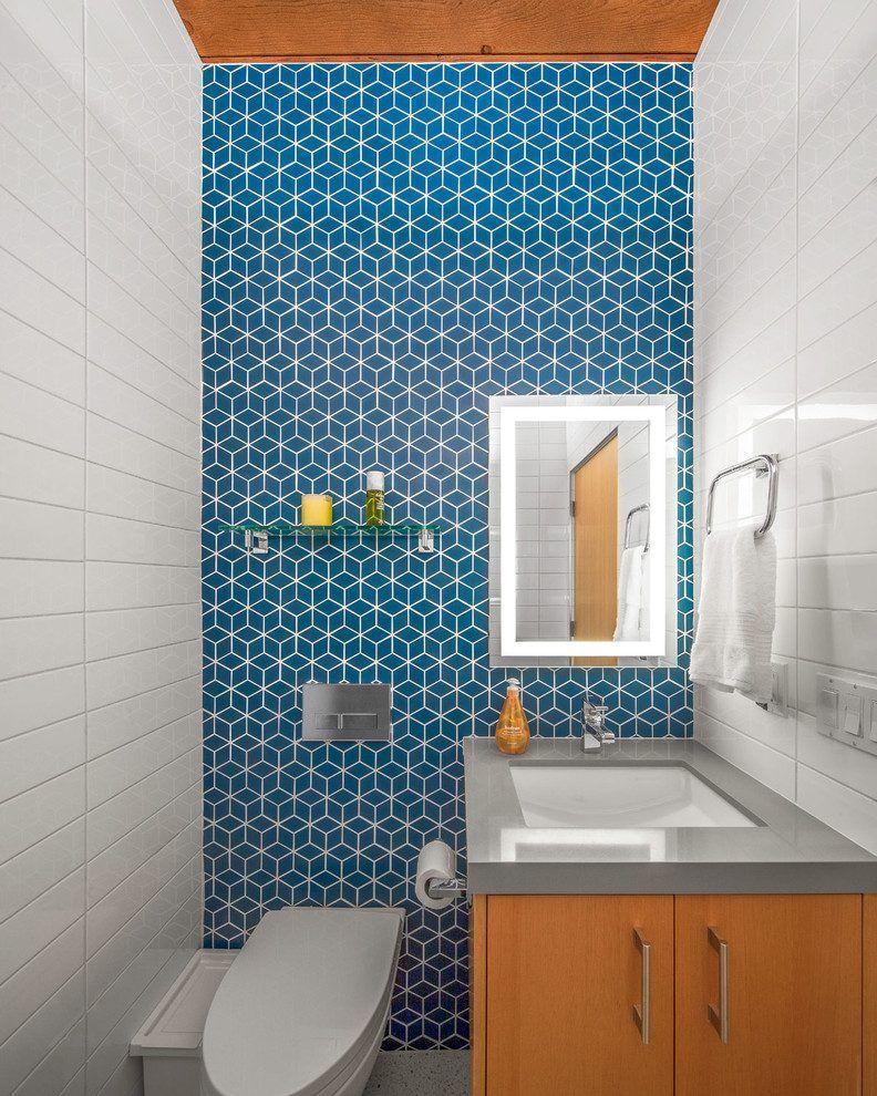 Heath Ceramics Powder Room Midcentury With Midcentury Modern