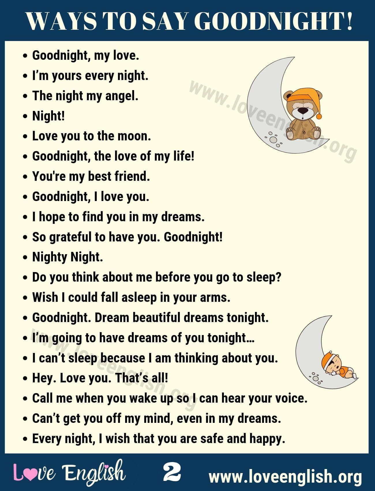 Goodnight Quotes 40 Sweet Ways To Say Goodnight In
