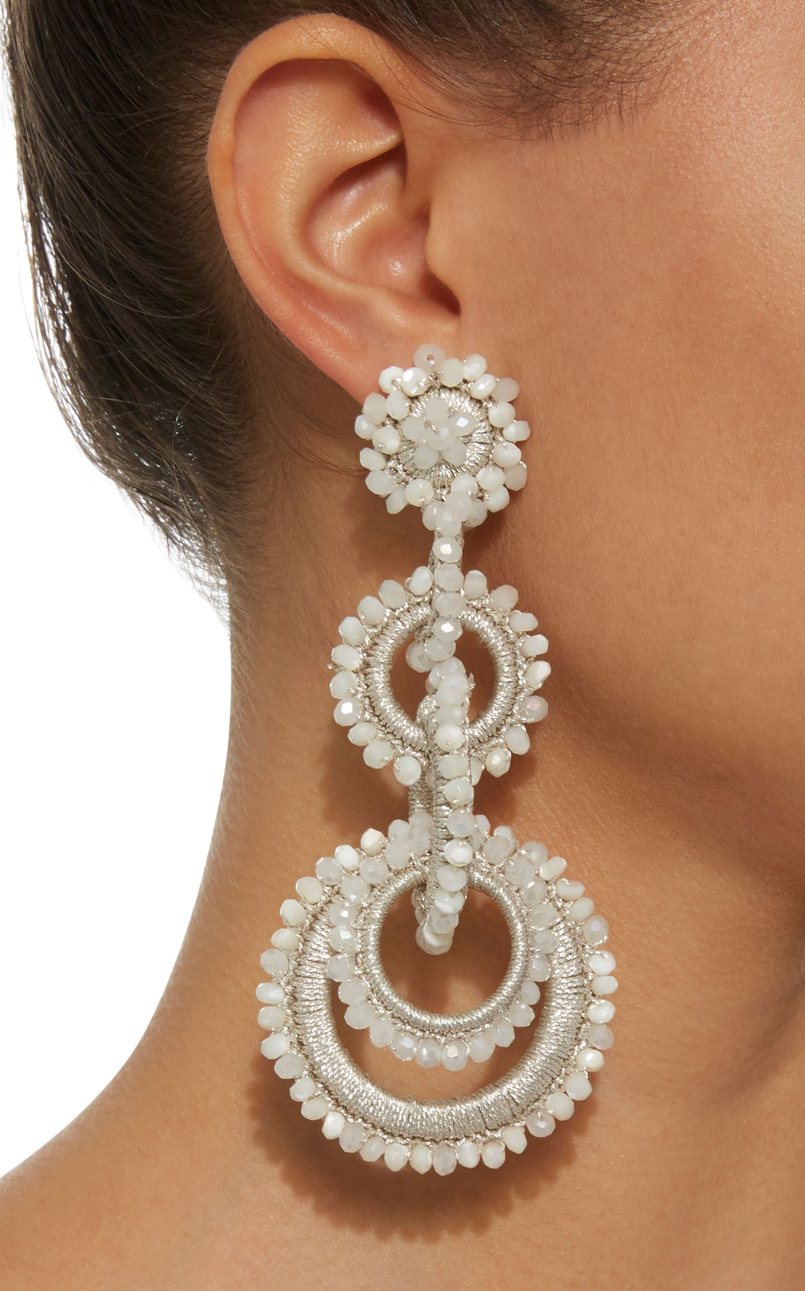 White Crystal and Mother of Pearl Sundrop Earrings  cc977aadc96