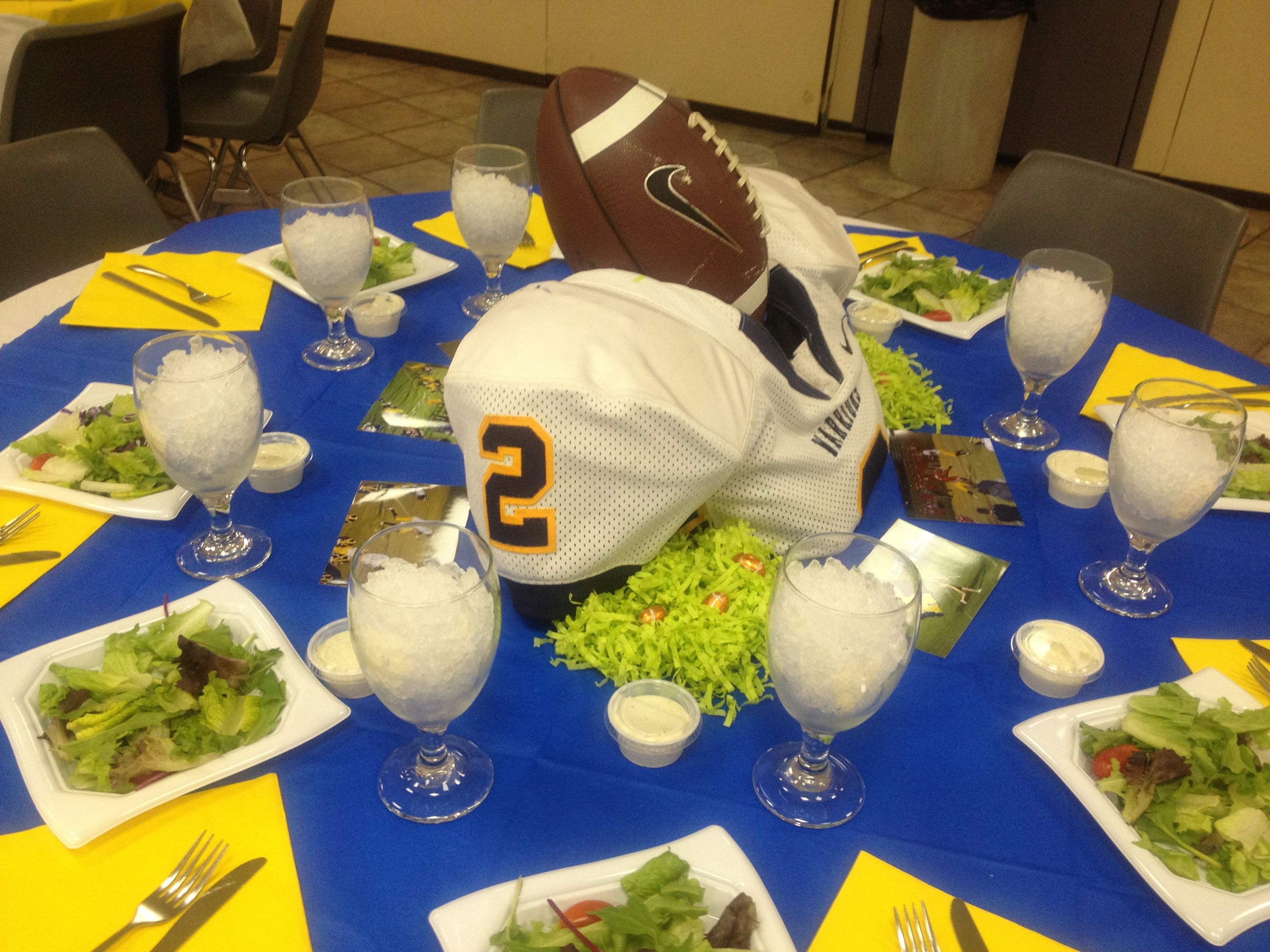 Football Banquet Table Party Ideas Pinterest