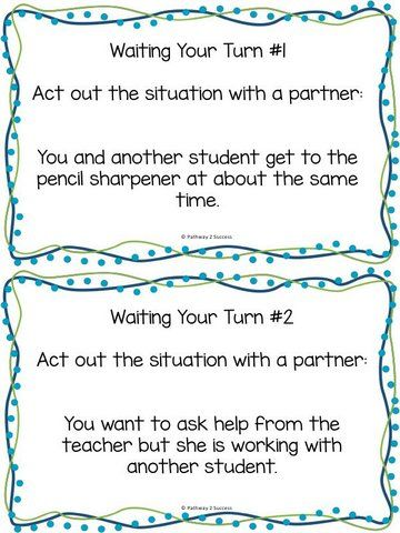 Social Skills Partner Role Play Acting Out Classroom Skills For
