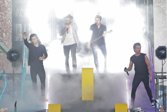 The boys at the OTRA Tour show in Vienna, Austria (: (6/10/15)