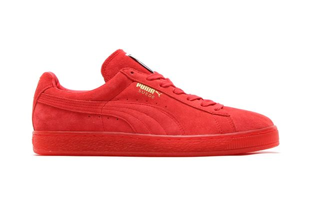 Puma Suede Red Shoes wearpointwindfarm.co.uk