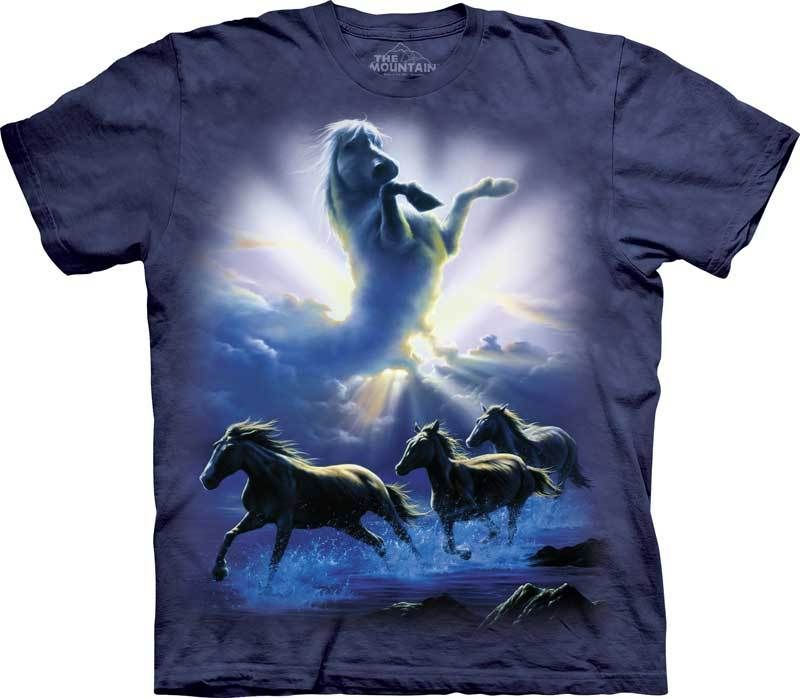 """HORSE /""""MOONLIT/"""" CHILD SMALL T-SHIRT The Mountain NEW"""