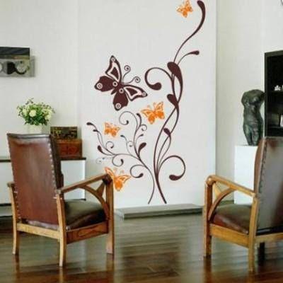 Cbj1939 vinilos para el hogar rama mariposa for Donde se compran los vinilos decorativos