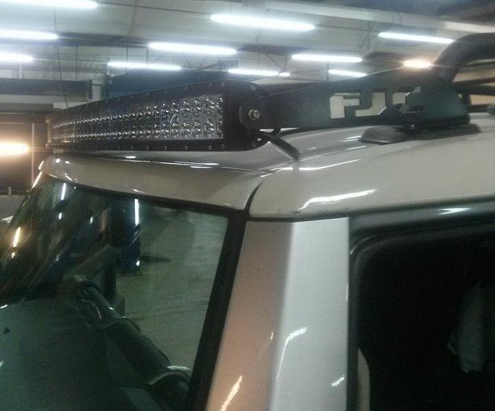 Spring Gp Resz Fabrication Single 50 Led Light Bar Mounts W Discount On Lights Toyota Fj Cruiser F Fj Cruiser Led Light Bar Mounts Curved Led Light Bar