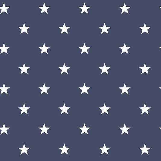 Deauville Stars Wallpaper An navy blue wallpaper with an