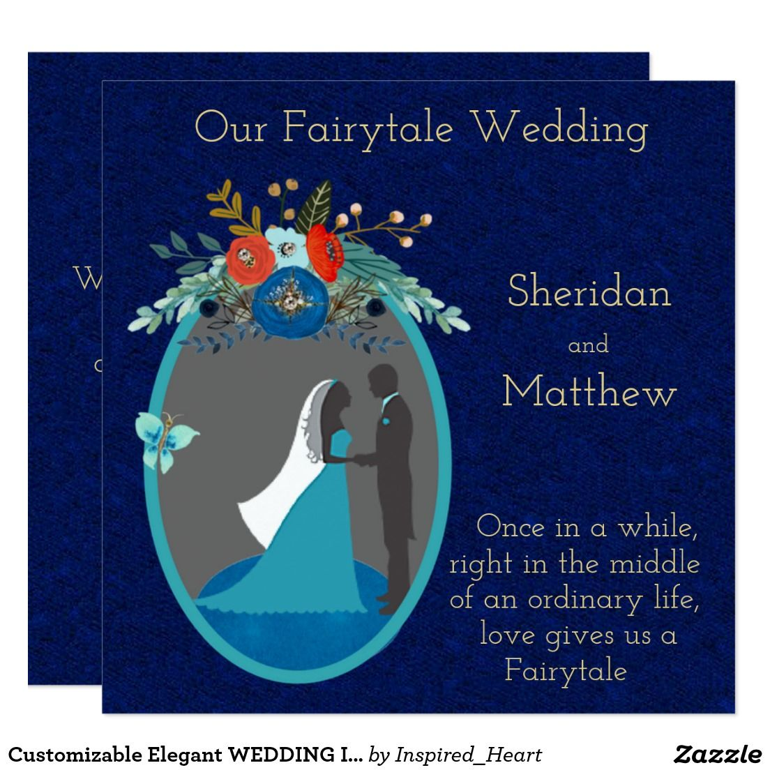 Customizable Elegant WEDDING INVITATION | Customizable Wedding ...