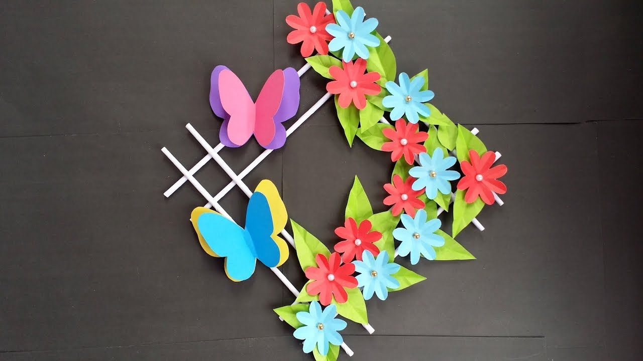 Diy How To Make Beautiful Wall Hanging With Colour Paper Diy