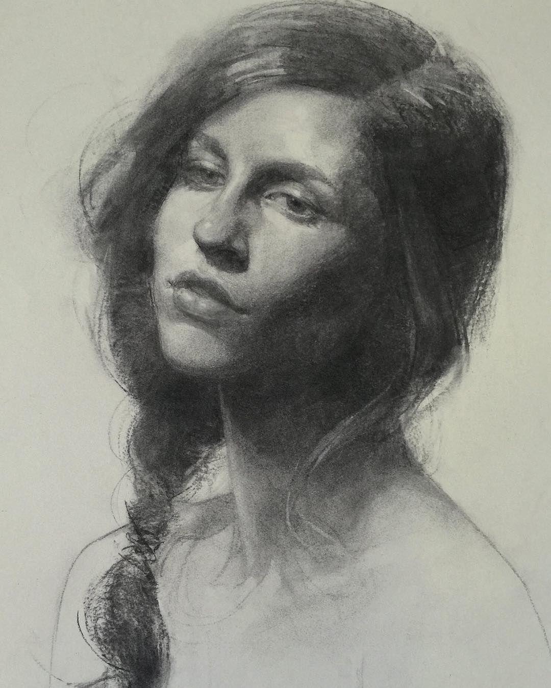 Vine charcoal drawing drawings draw artwork artist artists