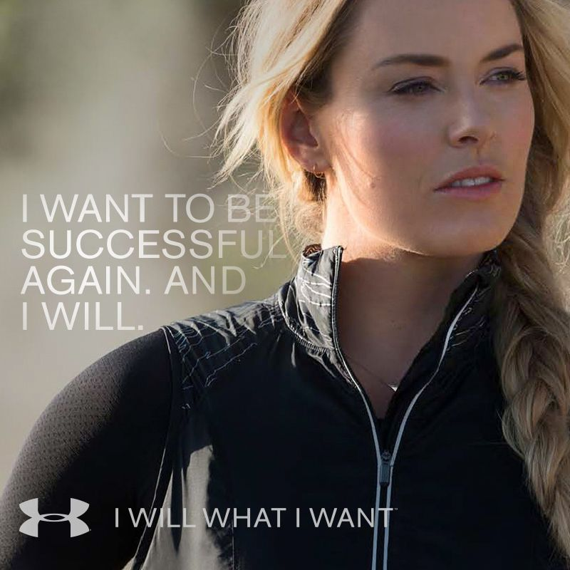 Lindsey Vonn lets nothing hold her back. Neither should you.  IWILLWHATIWANT 7379073355f