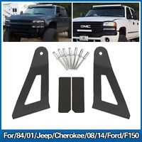 For 84 01 Jeep Cherokee 08 14 Ford F150 50 Led Light Bar Mounting Brackets Led Light Bars Jeep Cherokee Ford F150
