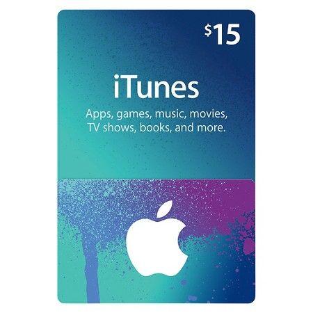 15 ITunes Gift Card Target