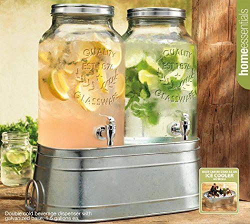 5 Recipes For Big Batches Of Cocktails Perfect For Parties Drink Dispenser Recipes Drink Dispenser Mason Jar Drink Dispenser