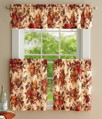 Harvest Fruit Curtain Set You Won T Believe How Inexpensive This Set Is Curtains Popular Decor Kitchen Decor Themes