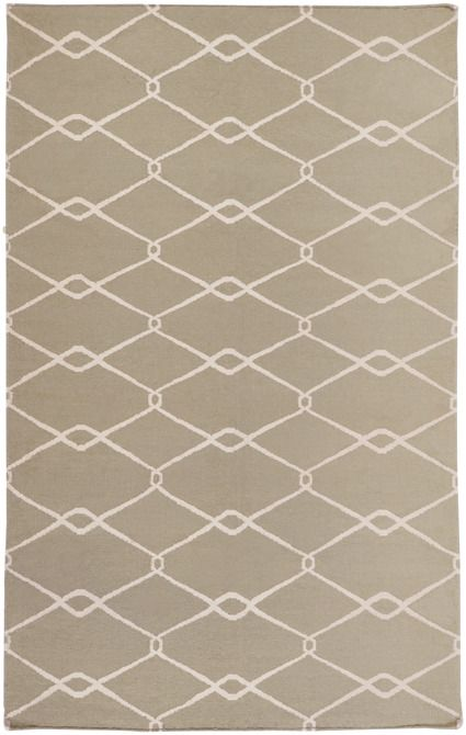 From delicate lattice patterns to boldly colored chevron patterns the Fallon Collection makes a statement in flat weave; from creator Jill Rosenwald known for her beautifully colored, hand-made ceramics. The Fallon Collection's patterns and the hand woven flat weave construction beautifully combine to highlight its simplicity and sophistication. Fresh and fun patterned rugs with a strong designer color palettes. This flat weave comes in colors of Sage | Ivory.
