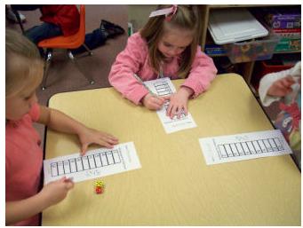 Yahtzee or the Kindergarteners Math classroom, Math