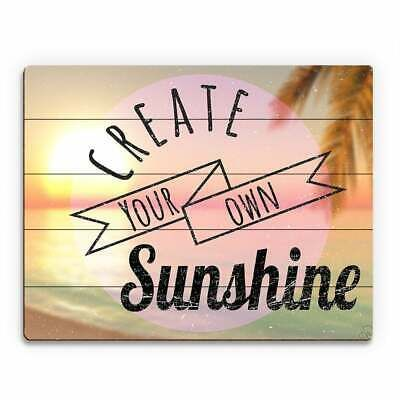 'Create Your Own Sunshine' Wall Art on Birchwood #fashion #home #garden #homedcor #postersprints (ebay link)