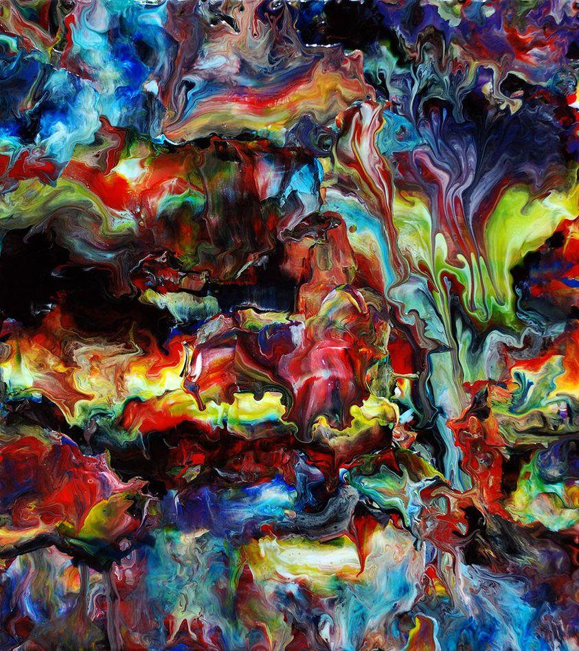 Afbeelding van http://pre06.deviantart.net/4d2c/th/pre/i/2012/291/8/1/abstract_fluid_acrylic_art_by_mark_chadwick-d5i73ro.jpg.