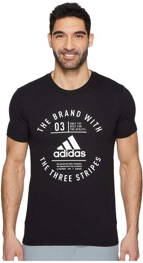 4495420f91 adidas Three Stripe Life Emblem Tee Men s T Shirt