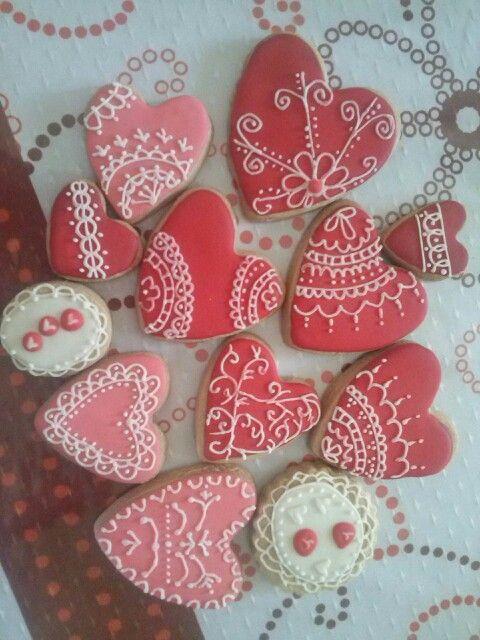 Cookies corazones  Cada vez me gusta mas...