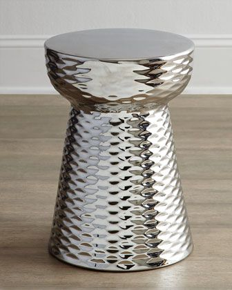 Chrome Finish Garden Stool At Horchow.
