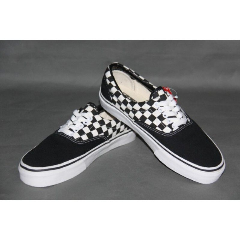 c5c8a771b3f216 Vans Shoes 2-Tone Black White Checkerboard Classic Canvas Sneakers ...