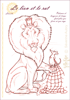 French Fable The Lion And The Rat La Fontaine Images Lion