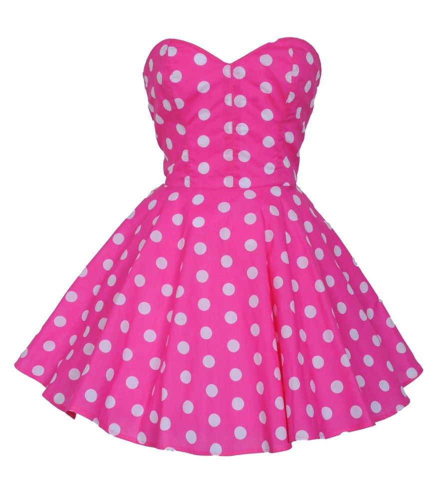Image of Pin-Up Pink Polka Dot Prom Party Dress | manualidades ...