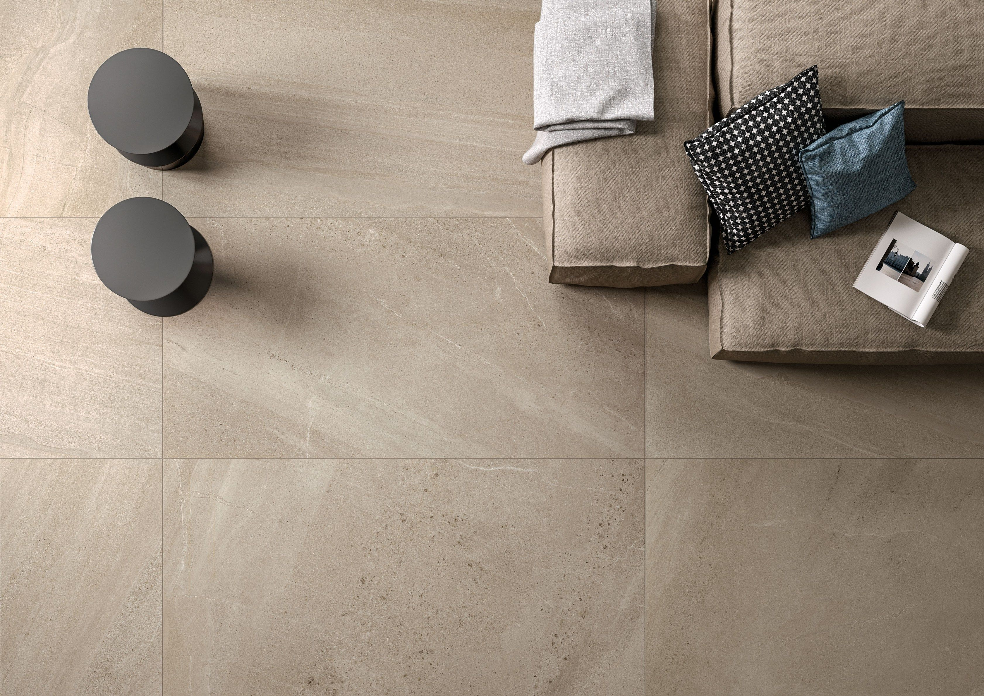 Porcelain Stoneware Wall Floor Tiles With Stone Effect
