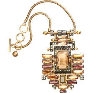 Lanvin Crystal Large Building Pendant Necklace Profile Photo