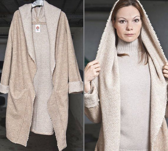 Wool Coat Clothing Sweater Coat Oversized Coat Beige Long Coat