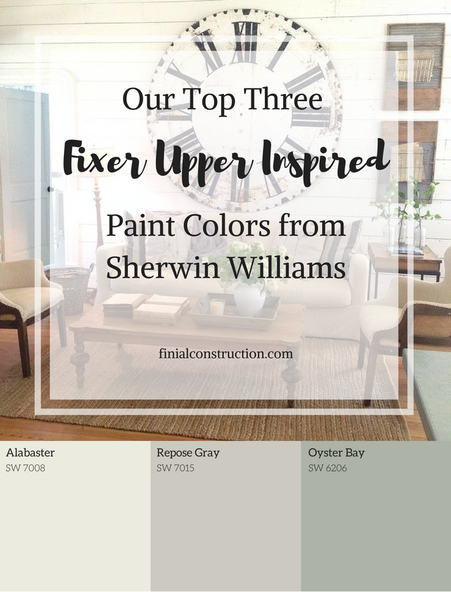 Top Three Sherwin Williams Paint Colors to get the Fixer Upper Look ...