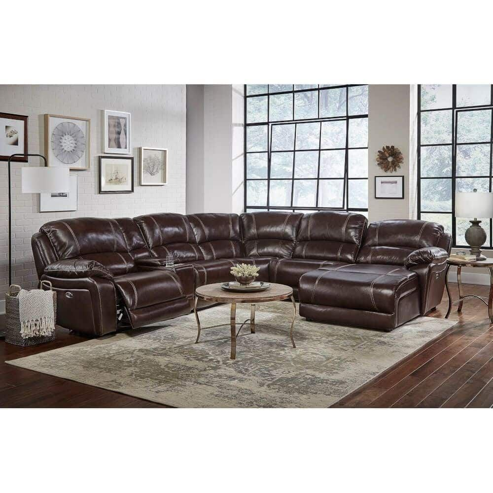 Luxe Elite Power Reclining Sectional Raf Recliner Laf Chaise