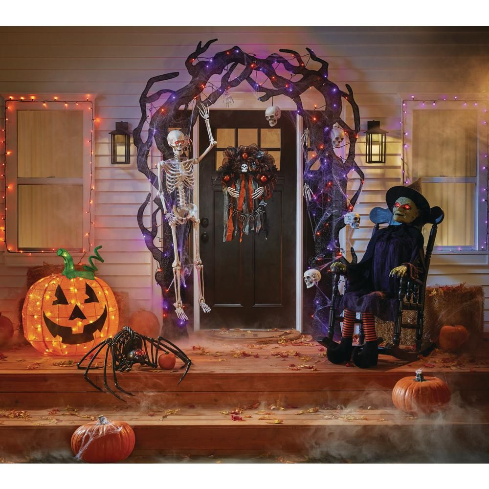 Home Accents Holiday 61 in. Animated Witch in Rocking ...