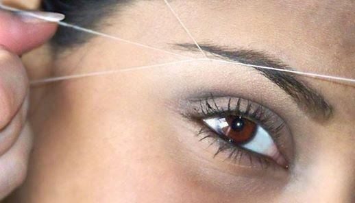 Sabia que a depilação a linha é um método menos doloroso em comparação com os restantes métodos?
