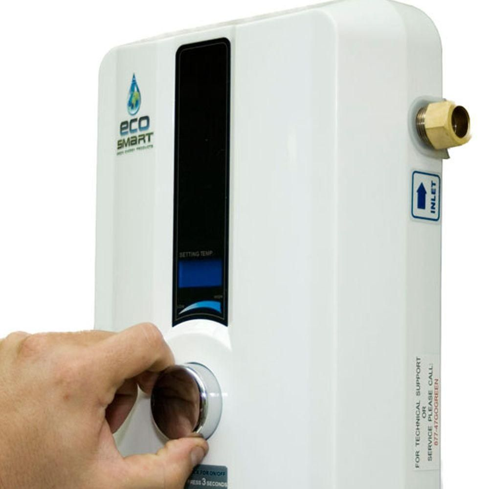 Ecosmart 11 Kw 2 14 Gpm Self Modulating Electric Tankless Water Heater Tankless Hot Water Heater