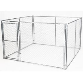 Aleko 6 Ft H X 13 Ft W X 7 5 Ft L Dog Kennel With Roof Frame Dk13x7x6rf Hd The Home Depot
