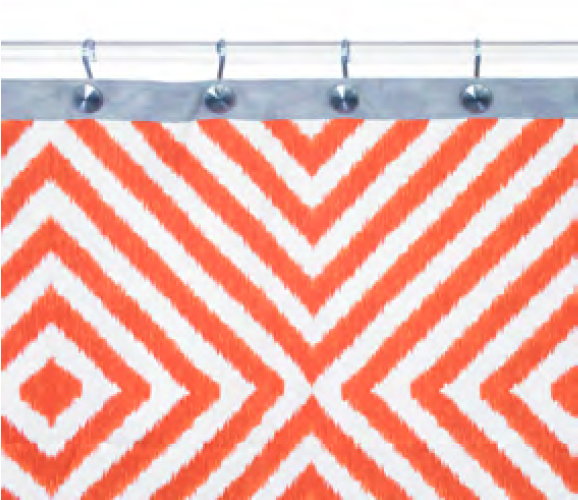 98 Jonathan Adler Arcade Shower Curtain Orange Grey Eclectic
