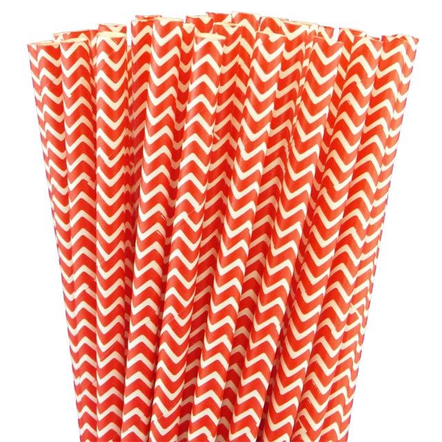 25 Red Chevron Paper Straws-7.75 Inches-Party Straws-Shower-Wedding-Party-Biodegradable by WithLovebyTwoSisters on Etsy https://www.etsy.com/listing/190510529/25-red-chevron-paper-straws-775-inches