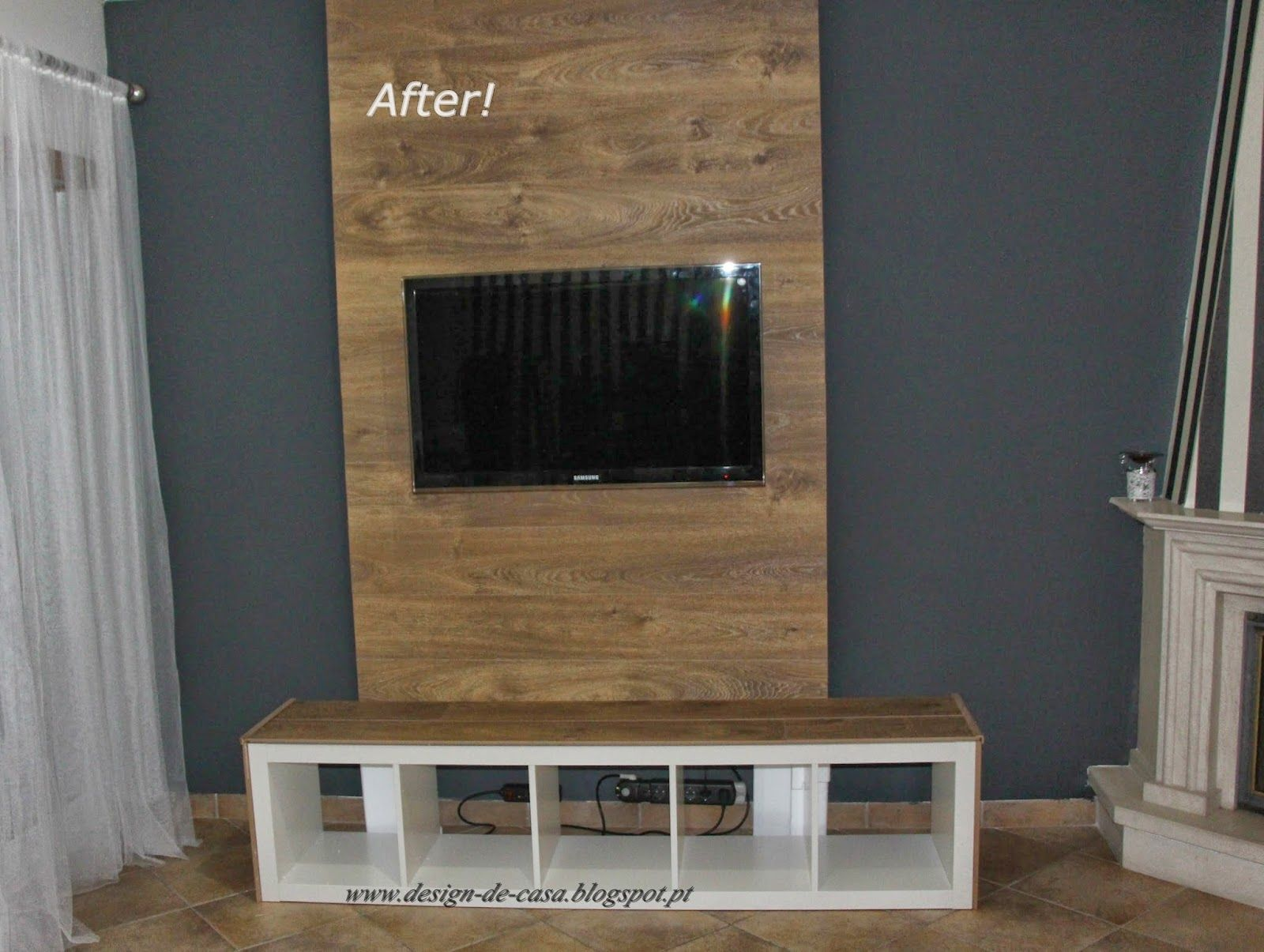 Wood Wall To Mount Tv Useful Illustrations Of How Capped On Each  # Comment Cacher Les Cables Tv